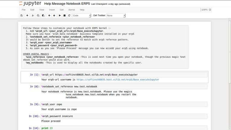 Wendelin | Screenshot using Jupyter