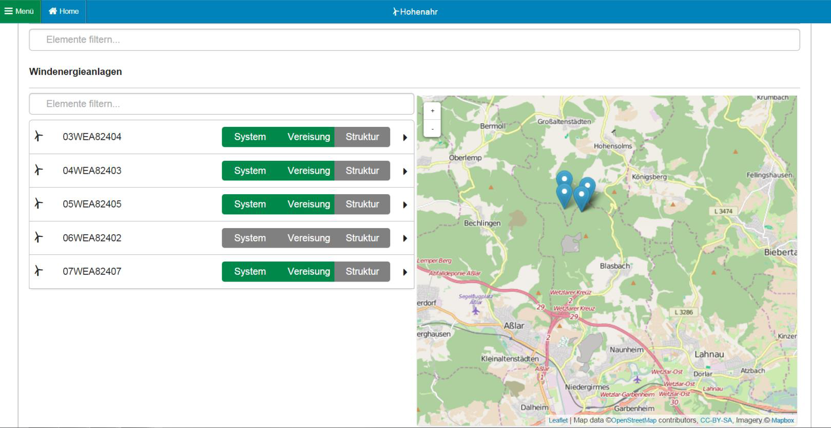 Mic Wind Map Screenshot