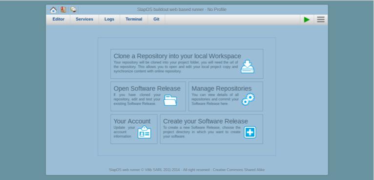 Requesting a Webrunner with ERP5 - SlapOS Webrunner Interface