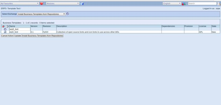 ERP5 Manage Business Templates | Install Missing Business Template Dependencies