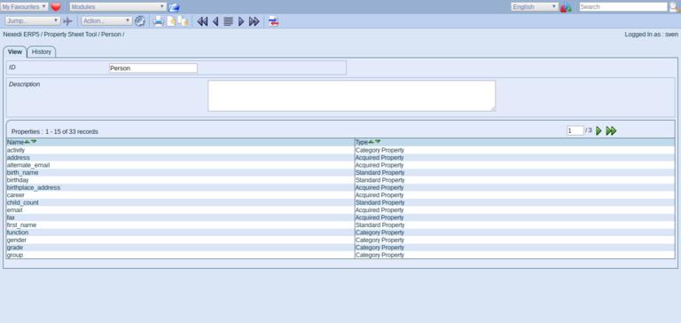 ERP5 Documentation | Screenshot Person Module Property Sheet