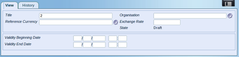 Add Currency Exchange line Dialog Box Screenshot