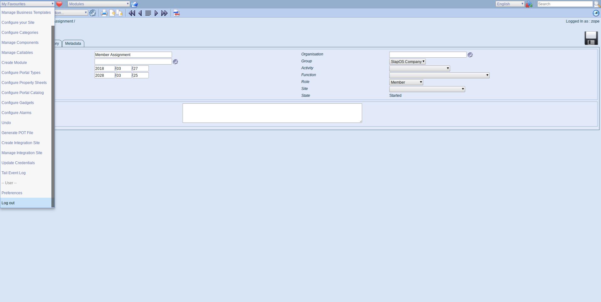 ERP5 Interface - Logout
