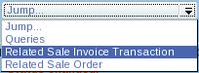 menu jump to related sale invoice screenshot
