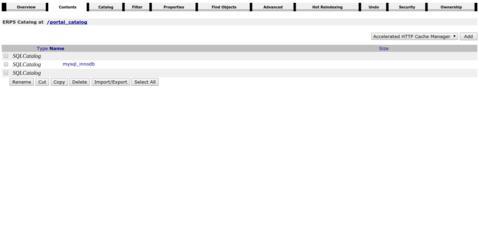 Open Source ERP - Screenshot Portal Catalog