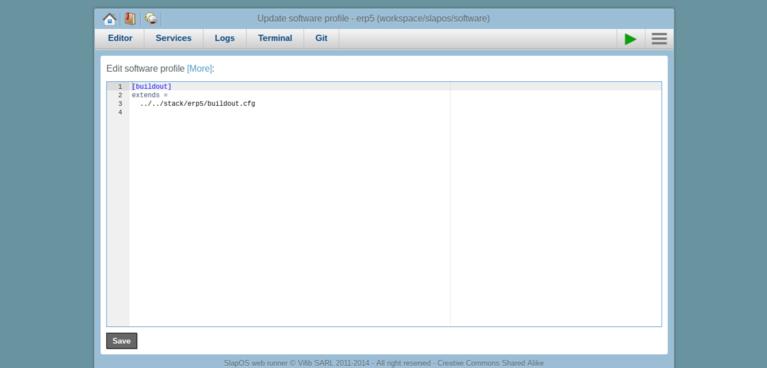 Requesting a Webrunner with ERP5 - SlapOS Webrunner Configure Software Release