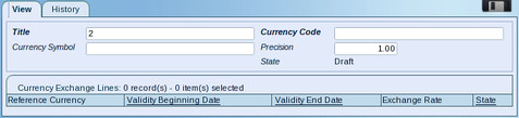 Add Currency Dialog Box Screenshot