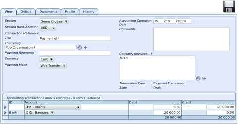 TioLive Accounting Payment