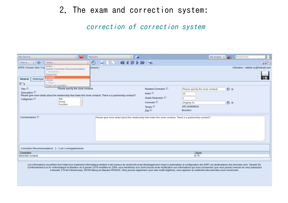 Correction of Correction System