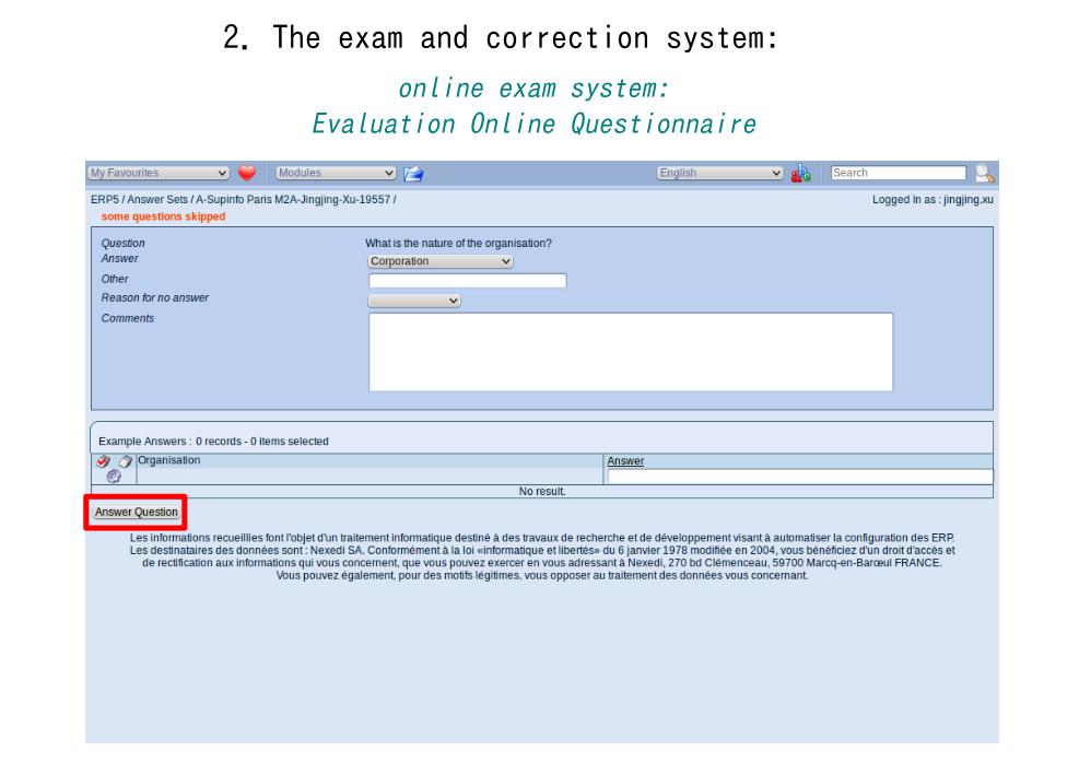 Onlineexamsystem: Evaluation Online Questionnaire