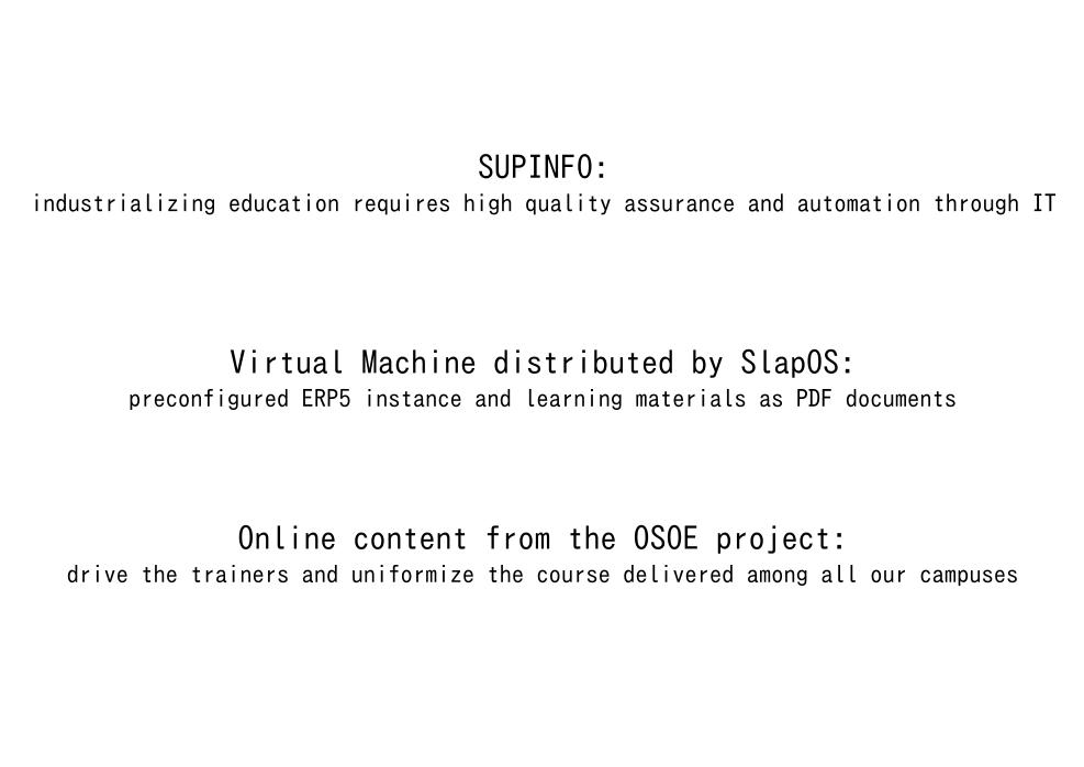 Why Supinfo needs OSOE MOOC?