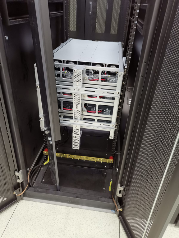 OCP installation Photo Backside Rack