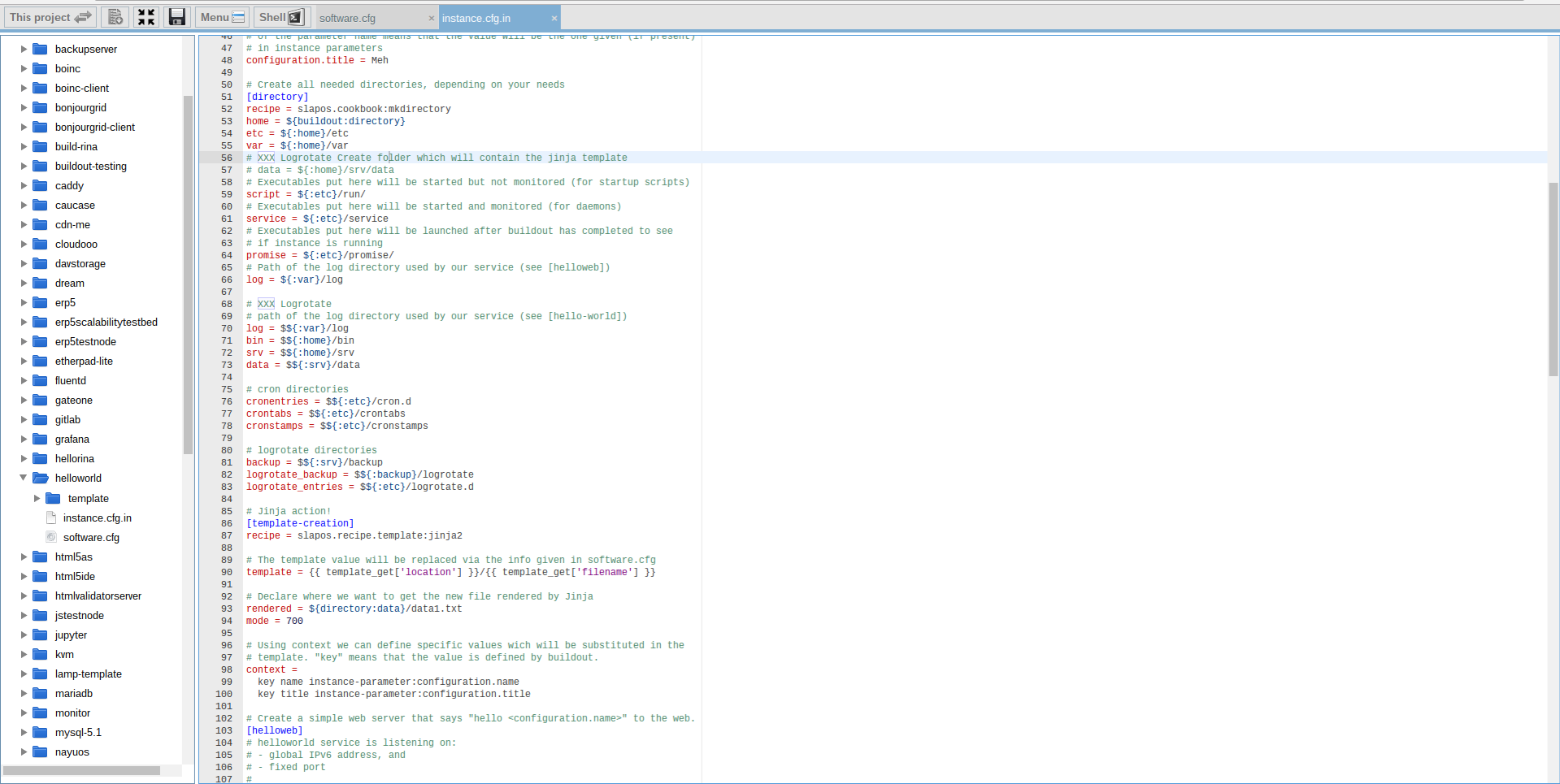 Extending Software Release - Webrunner Interface - Add Logrotate to Instance Profile