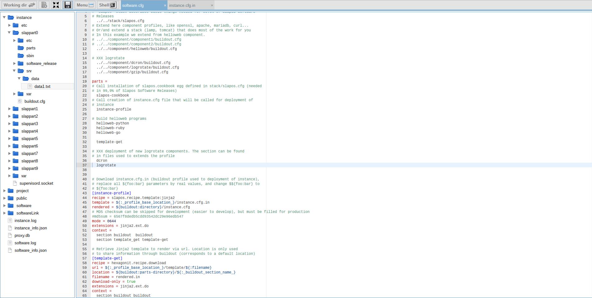 Extending Software Release - Webrunner Interface - Add Logrotate to Software Profile