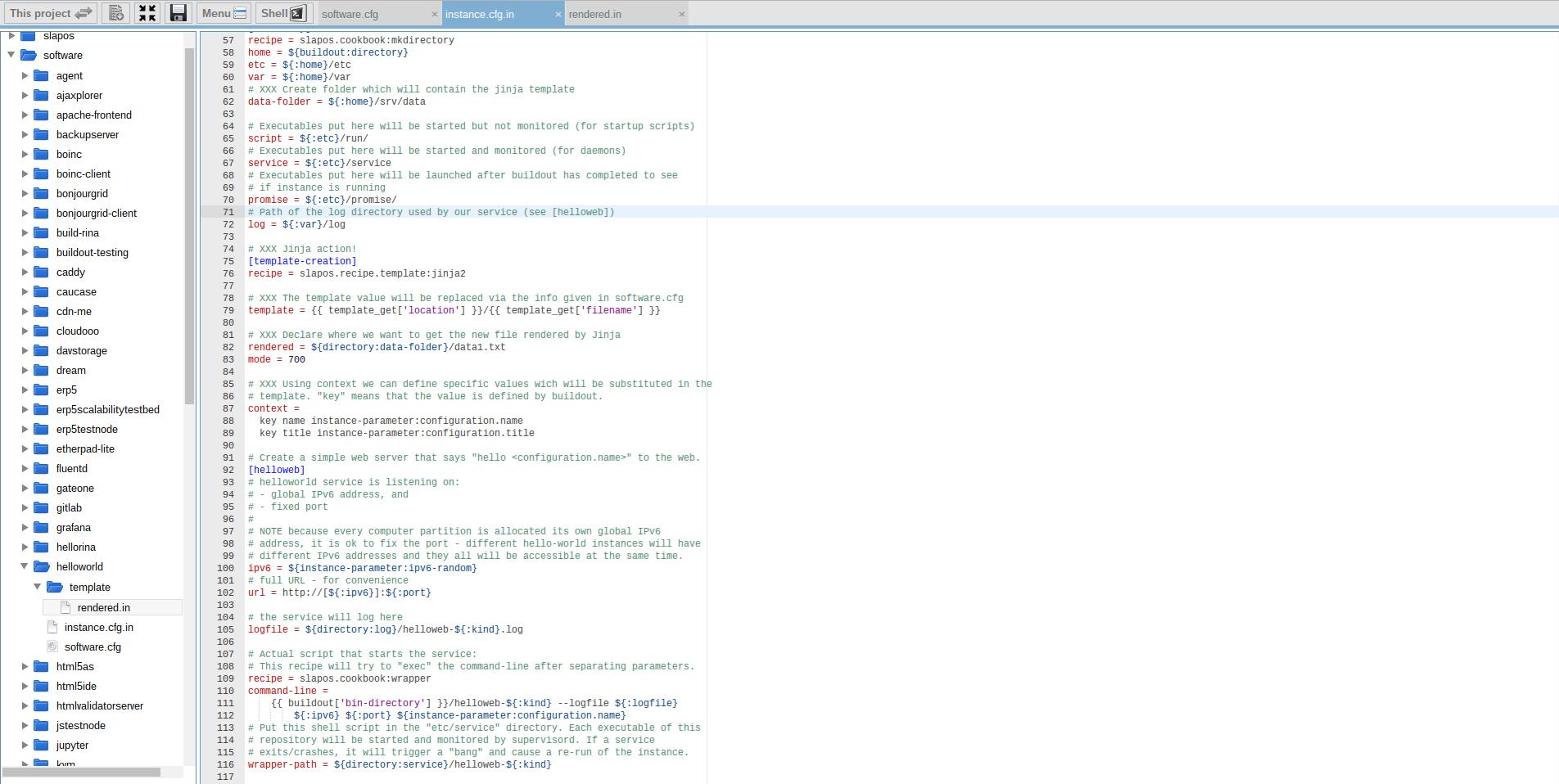 Extending Software Release - Webrunner Interface - Add Template to Instance Profile