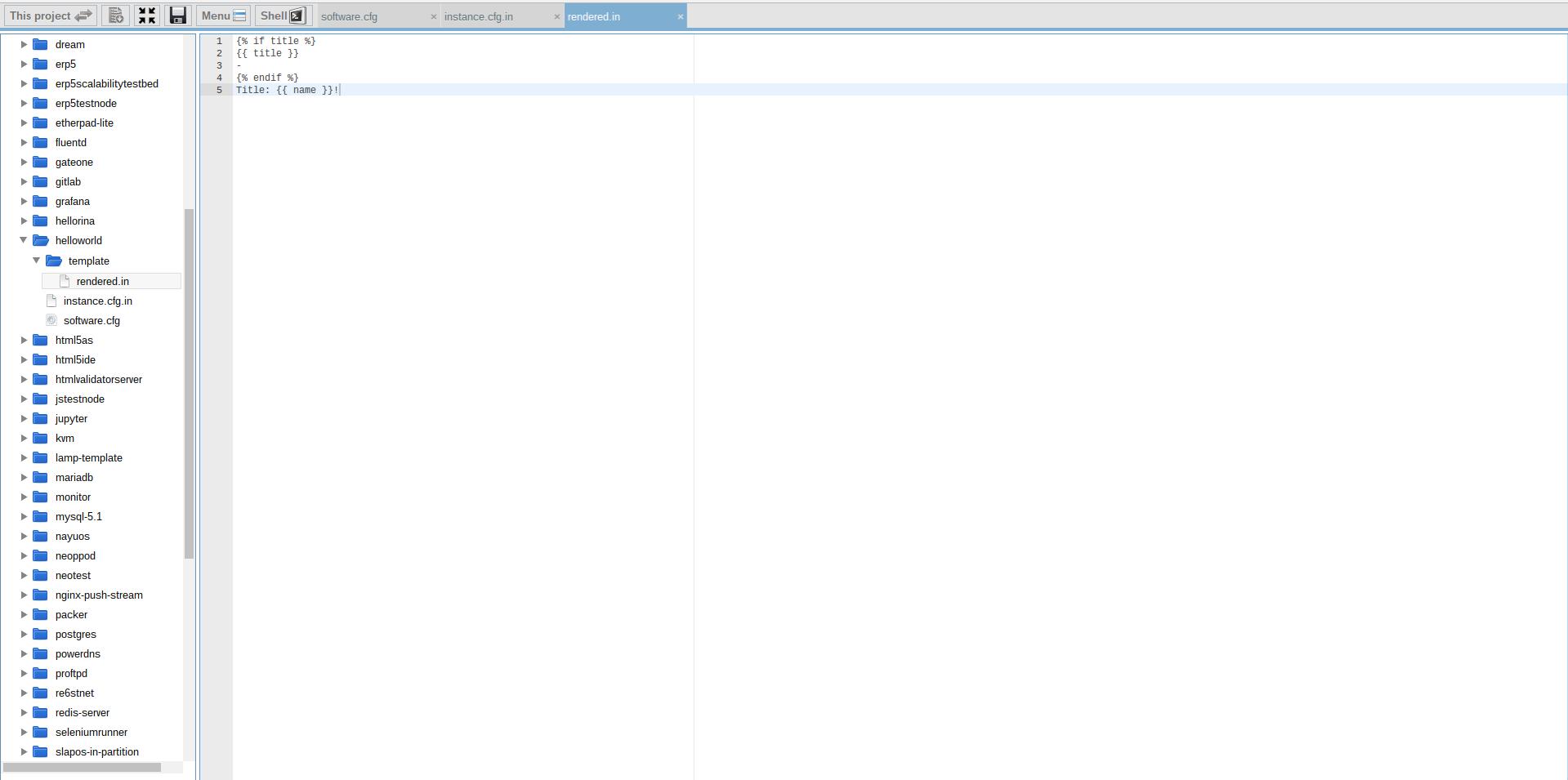 Extending Software Release - Webrunner Interface - Add Template Folder and Template