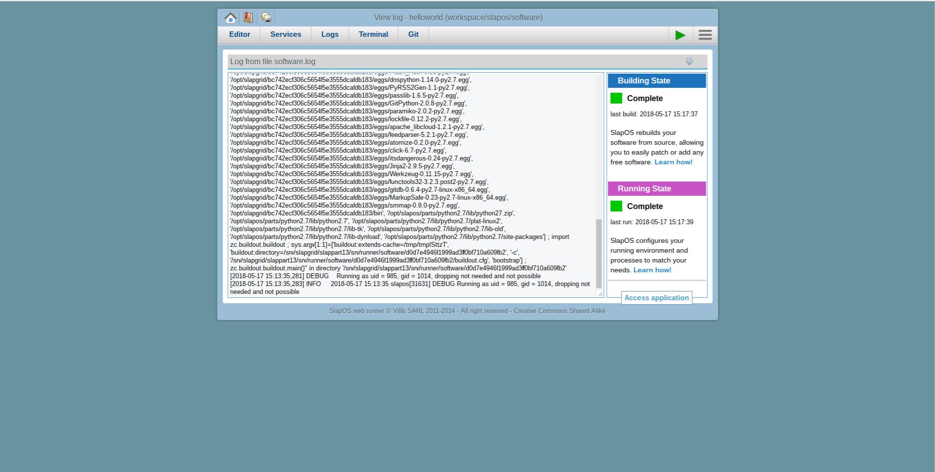 Extending Software Release - Webrunner Interface - Rebuild Software with Logrotate