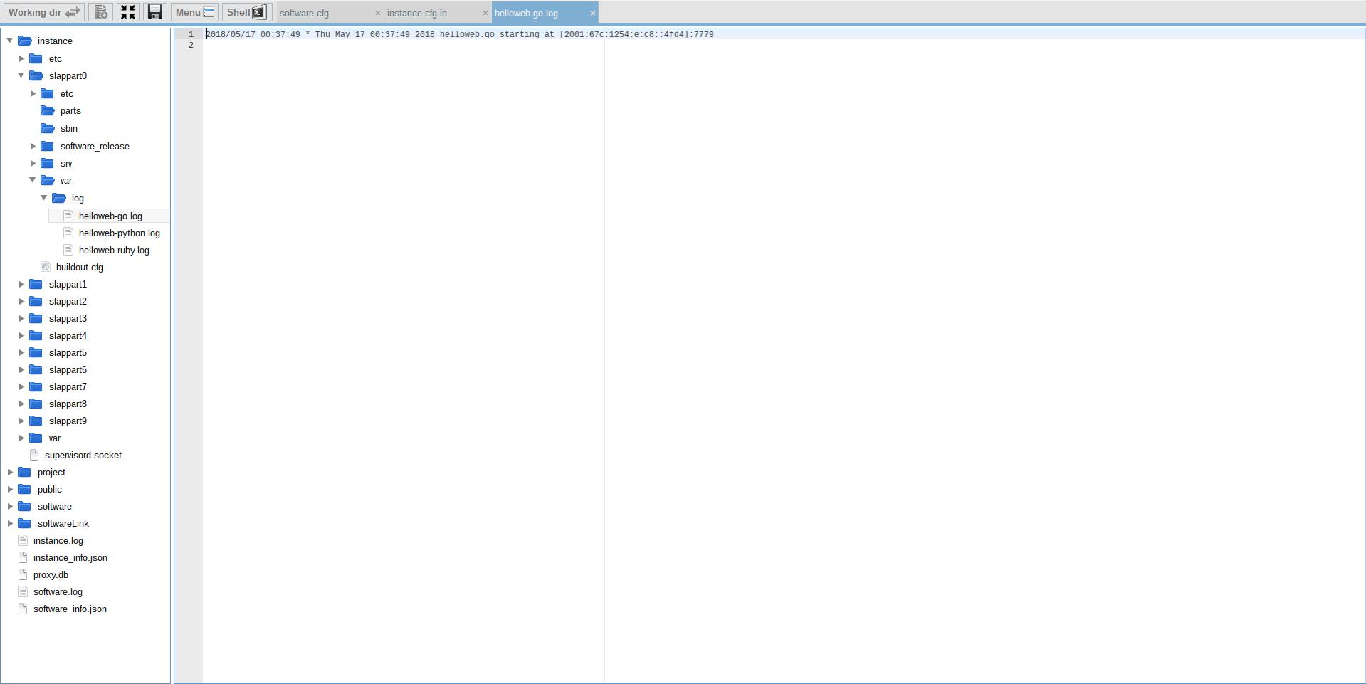 Extending Software Release - Webrunner Interface - Verifiy Logs are Avaiable
