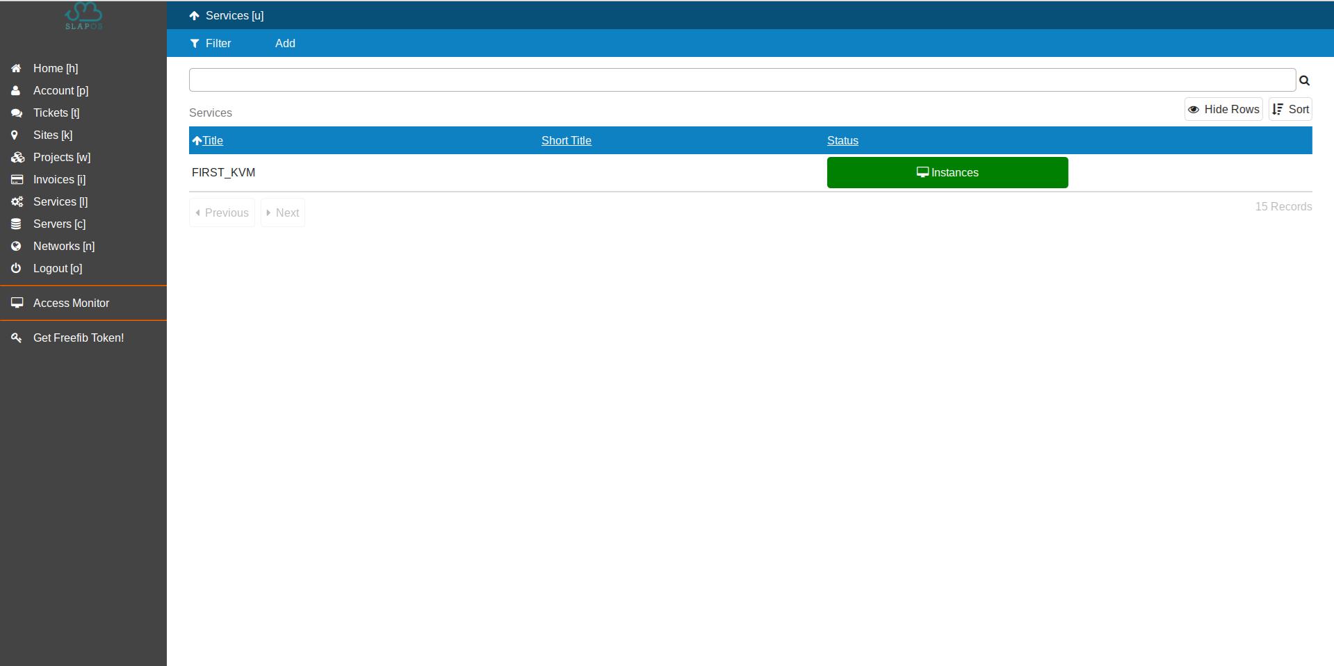 SlapOS Interface - KVM Instantiation