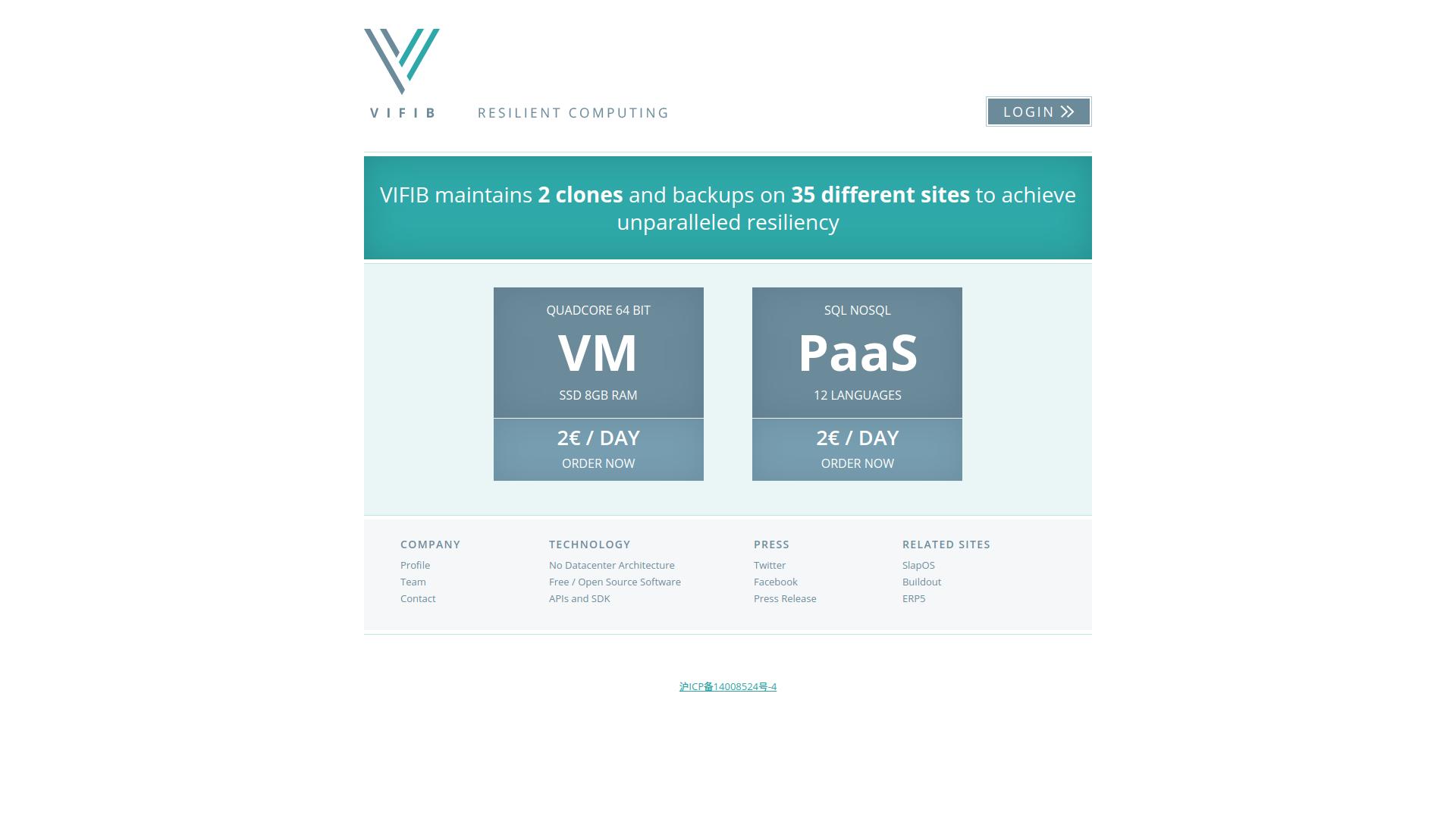 Vifib Homepage