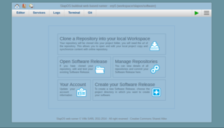 SlapOS | Open Source Cloud Deployment and Orchestration - Screenshot SlapOS Webrunner
