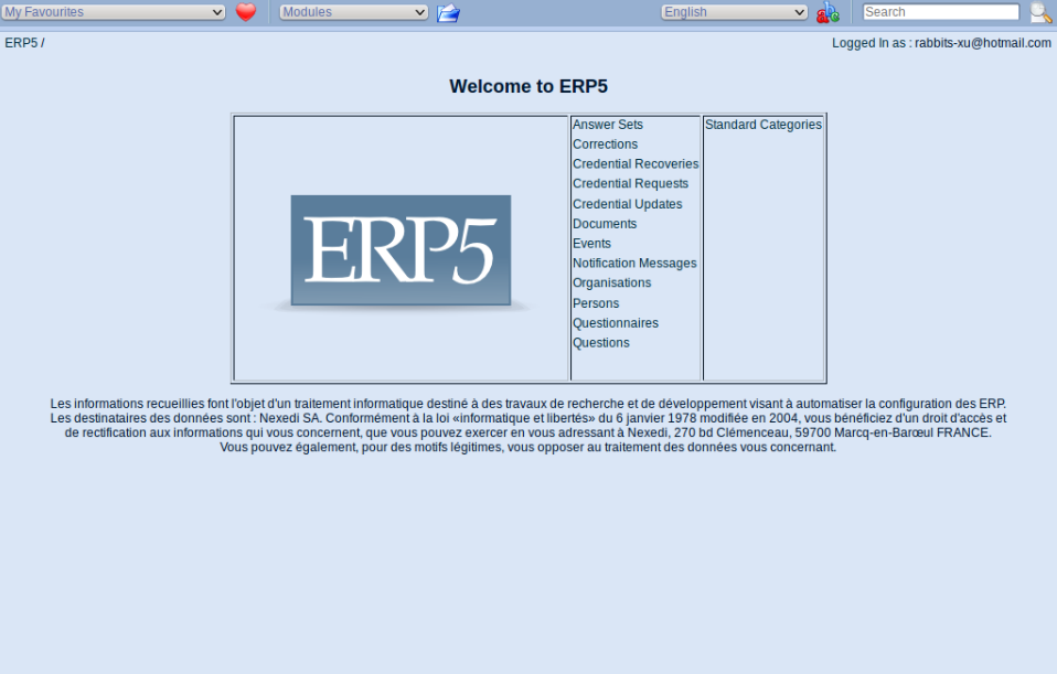 On-line questionnaire correction system ERP5