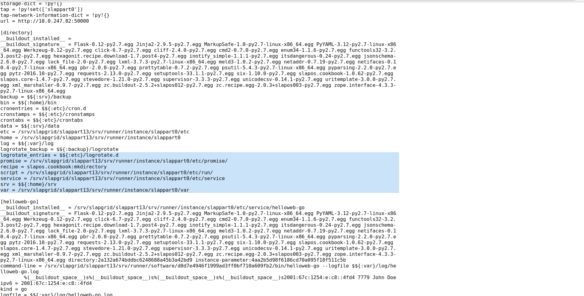 Debug SlapOS Node - Webrunner Interface - Hidden .instance.cfg
