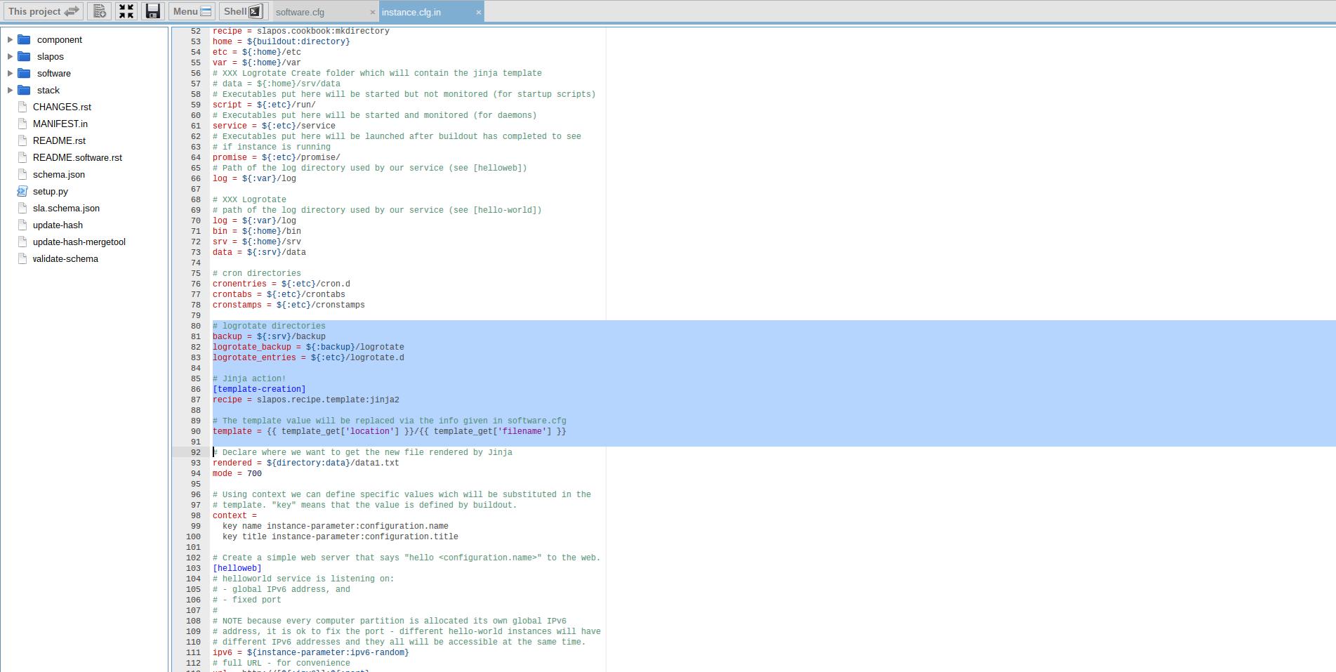 Debug SlapOS Node - Webrunner Interface - Software Profile Templates