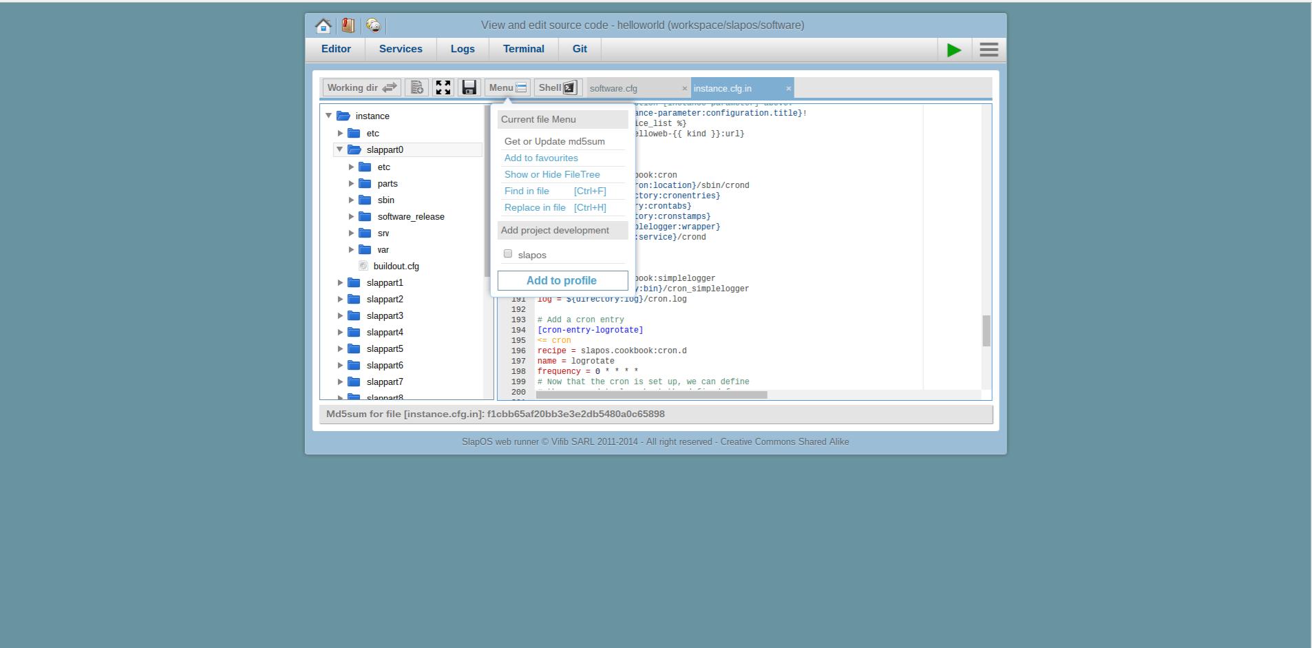 Extending Software Release - Webrunner Interface - Update MD5 Sum
