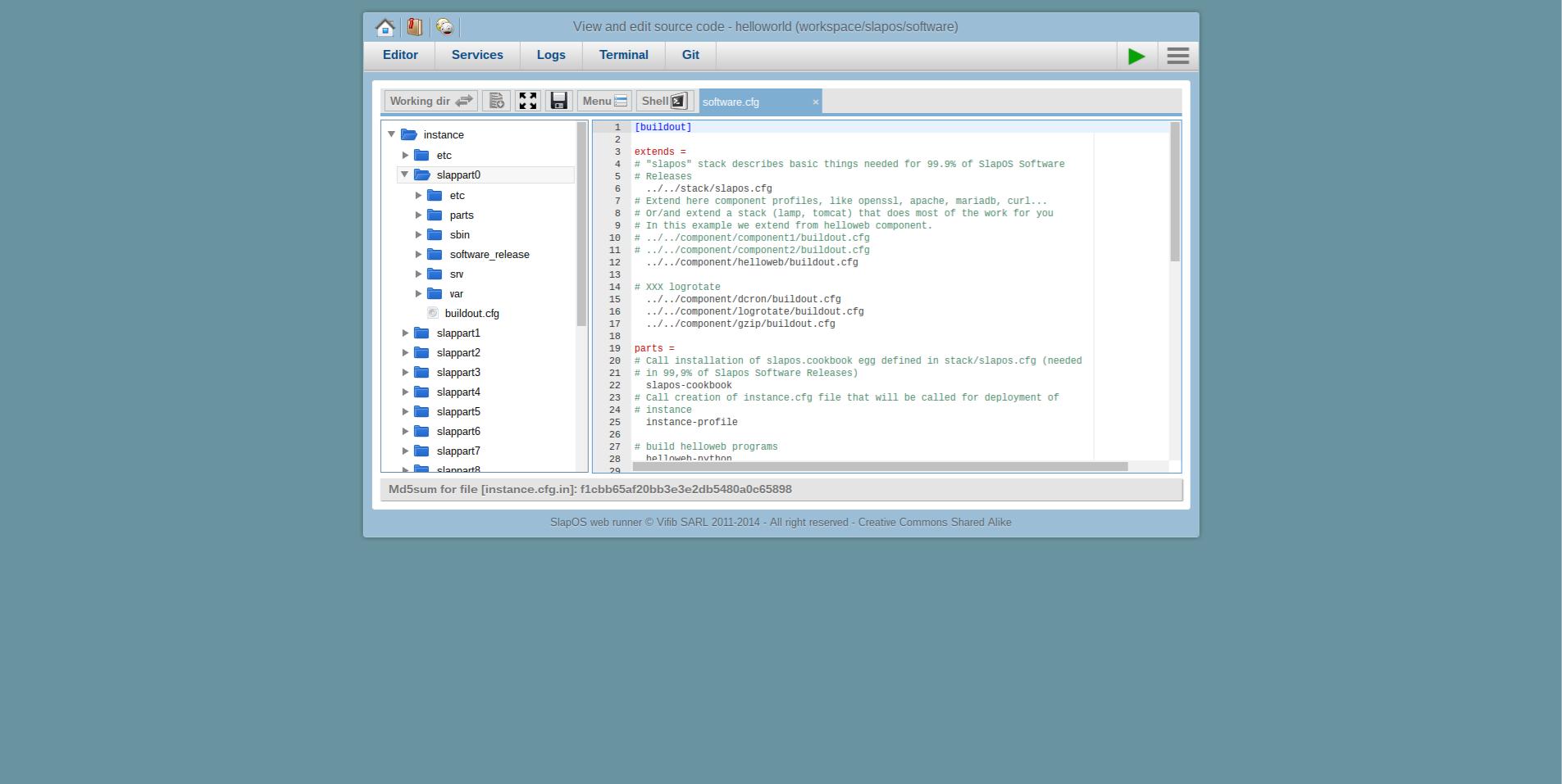 Extending Software Release - Webrunner Interface