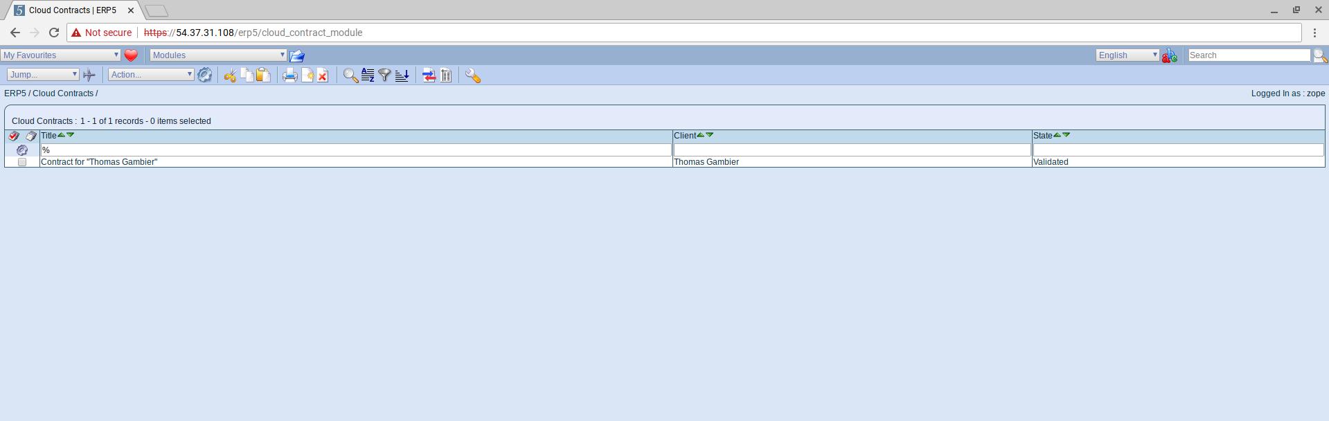 SlapOS Interface - Cloud Contract Module