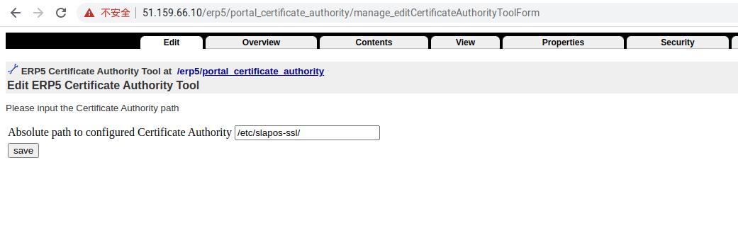 Zope Interface - Set SSL Directory